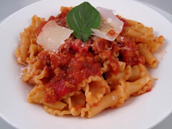 Turkey Tomatoe Sauce Campanelle