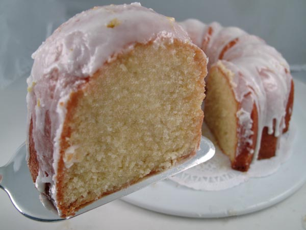 Lemon Bundt Cake slice