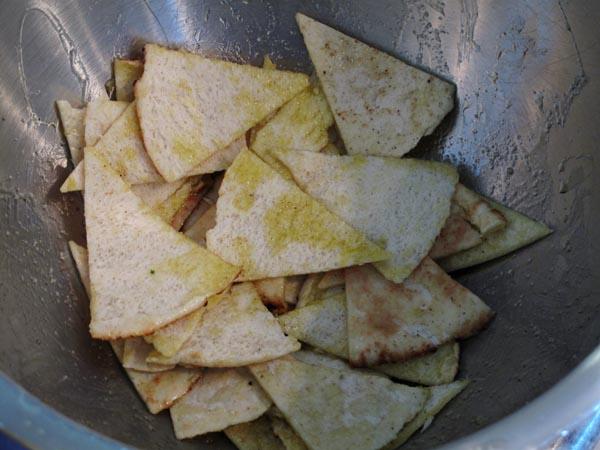 Pita chips oil
