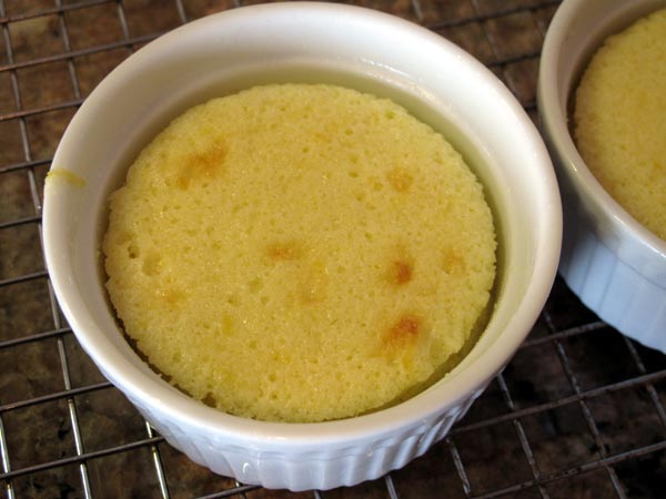 Lemon pudding cake baked