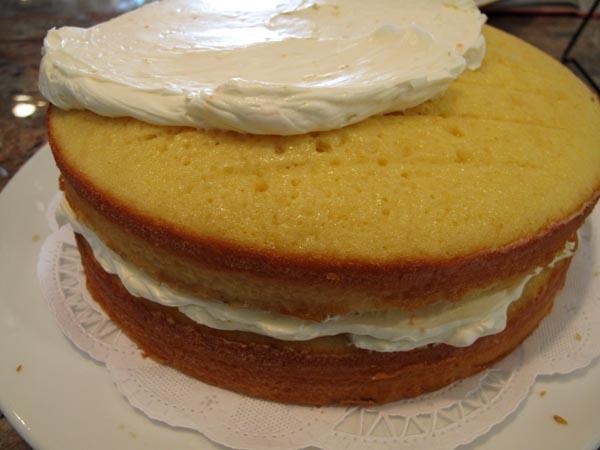 Orange cake frosted