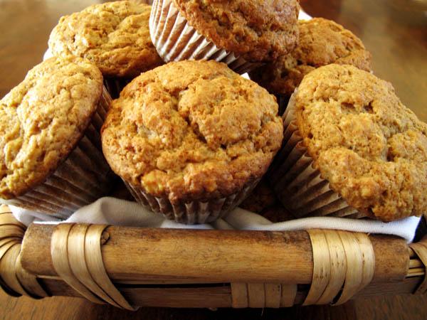 Sour Cream Maple Walnut Muffins
