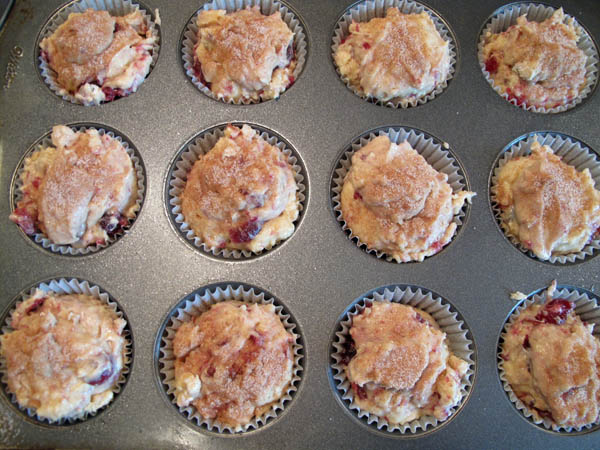 Easy Whole Cranberry Sauce Muffins prebake