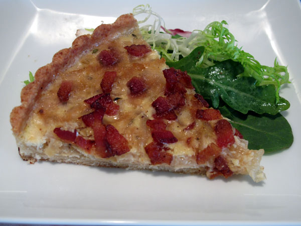 Onion tart slice