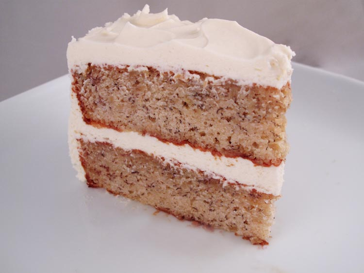 ... Banana Layer Cake with Fluffy Cream Cheese Frosting - Cook Like James