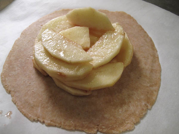 Rustic Free Form Apple Tartlet slices