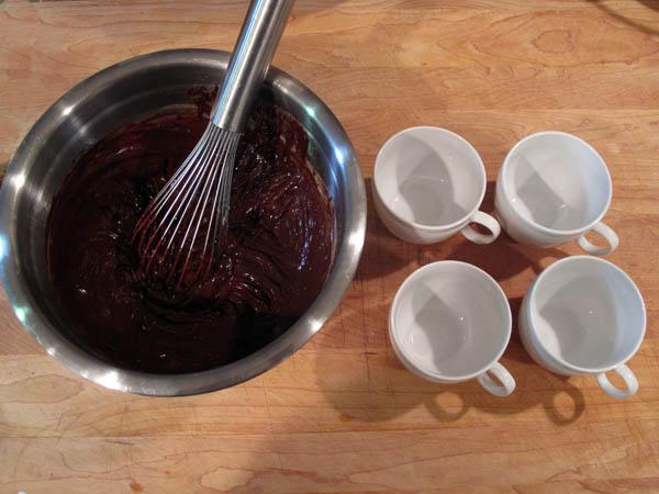 Chocolate pot de creme cups
