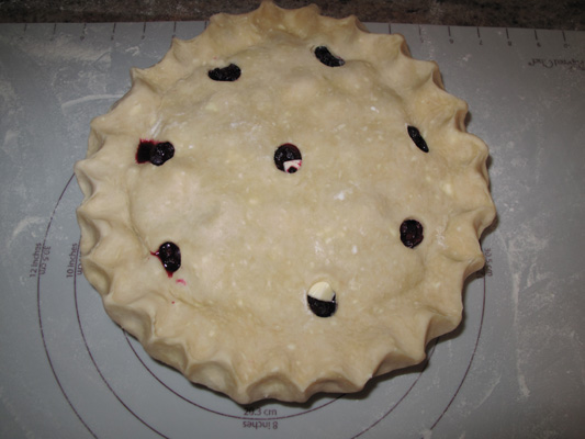 Blueberry pie prebake