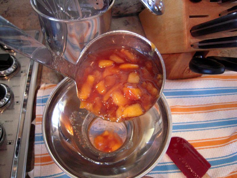 Peach jam ladle