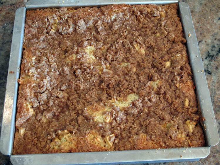 Apple Crumble Coffe Cake baked