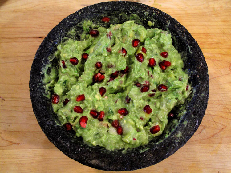 Holiday Fruit Filled Guacamole
