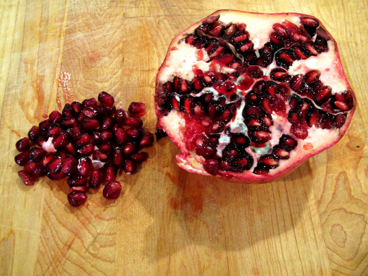 Holiday Fruit Filled Guacamole pomegranate