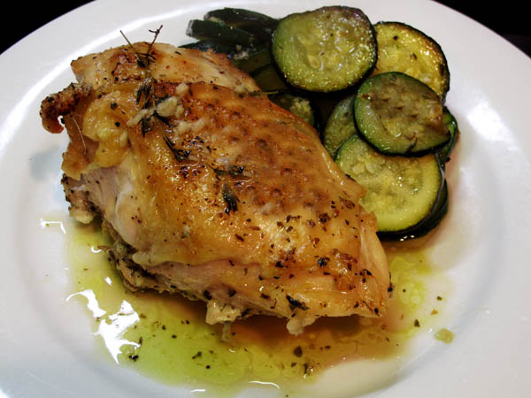 Blue Ribbon Lemon Garlic Roast Chicken