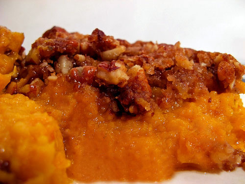 Mashed Sweet Potatoes Oatmeal Topping