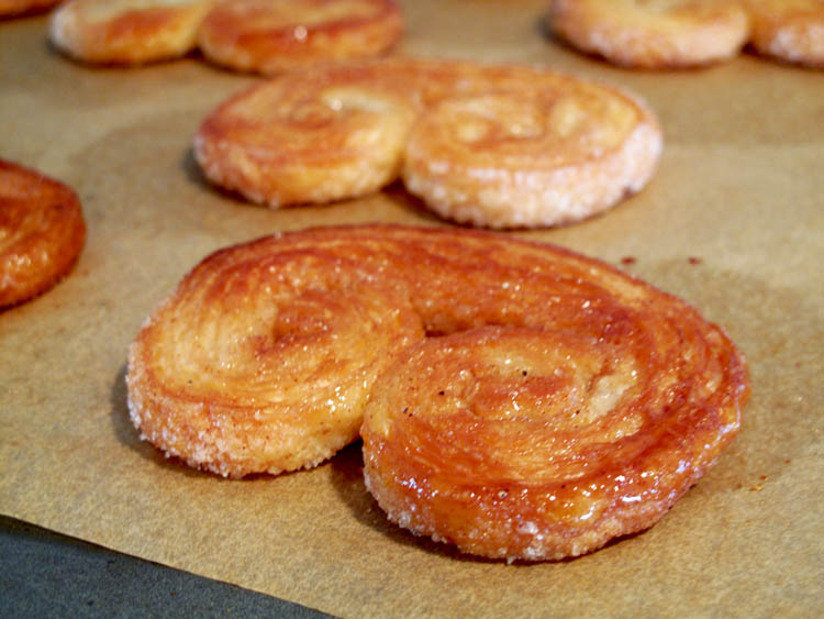 Palmiers baked sheet