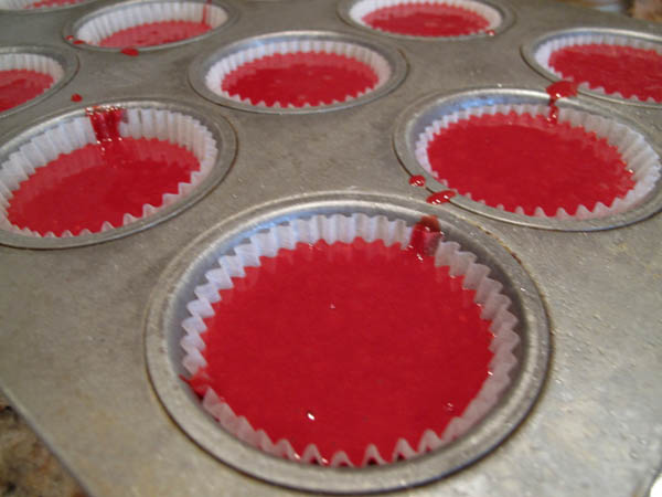 Red velvet batter pan