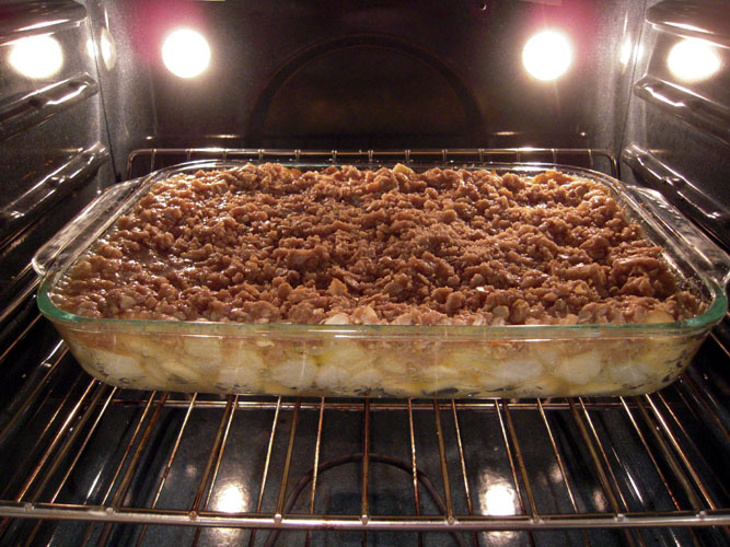Apple Crisp baking