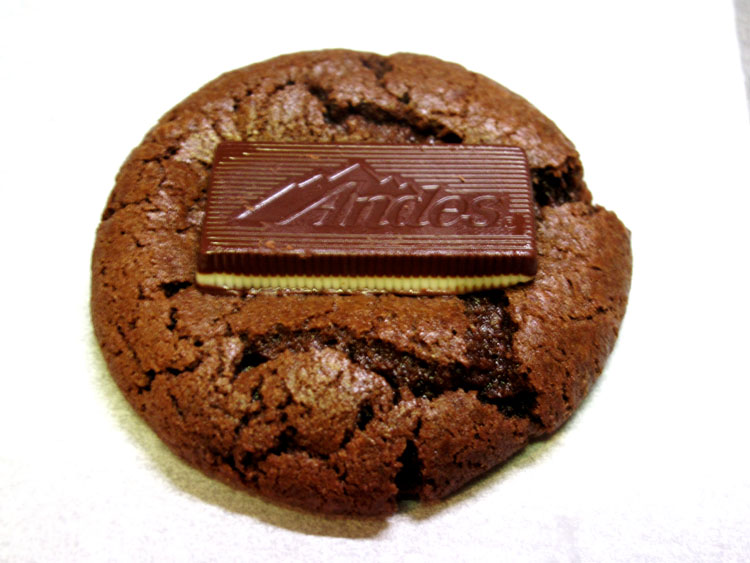 Andes Mint Chocolate Brownie Cookies mint2