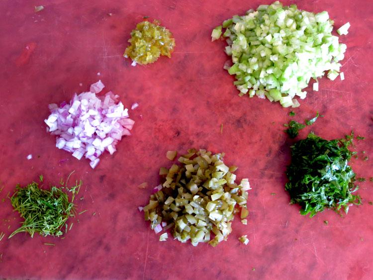 Classic American Potato Salad herbs