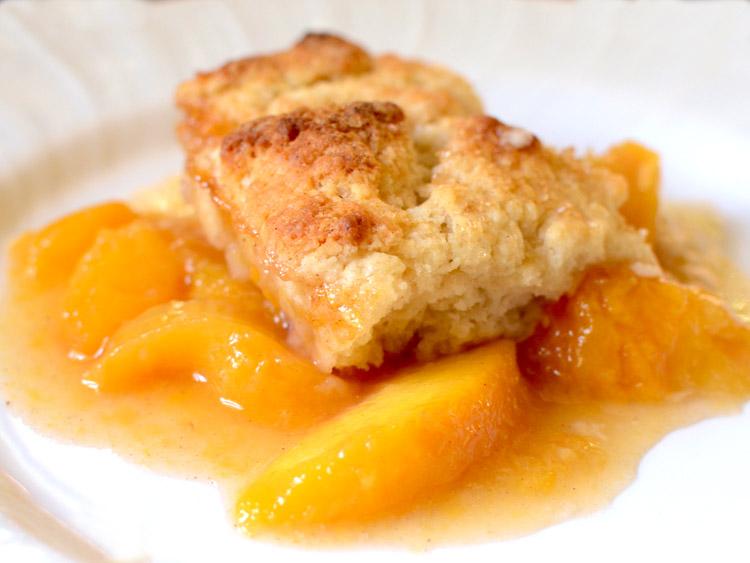 Peach cobbler 1a
