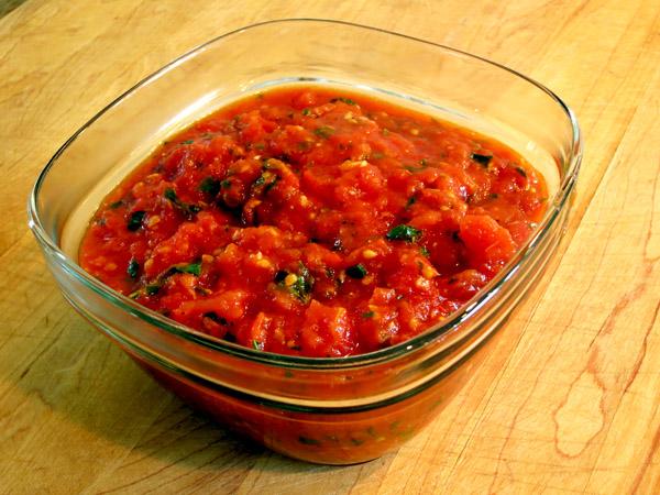 Fresh Tomato Sauce freezer container