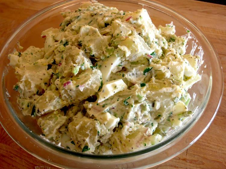Classic American Potato Salad bowl