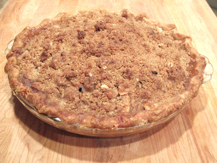 Apple Pie Streusel Topping Baked