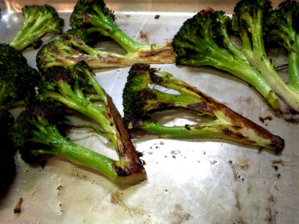 Roasted Broccoli pan charred