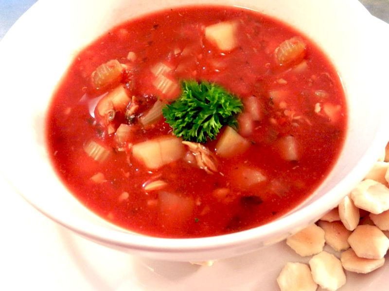 Manhattan clam chowder1