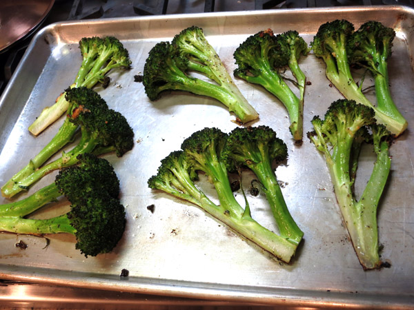 Roasted Broccoli pan