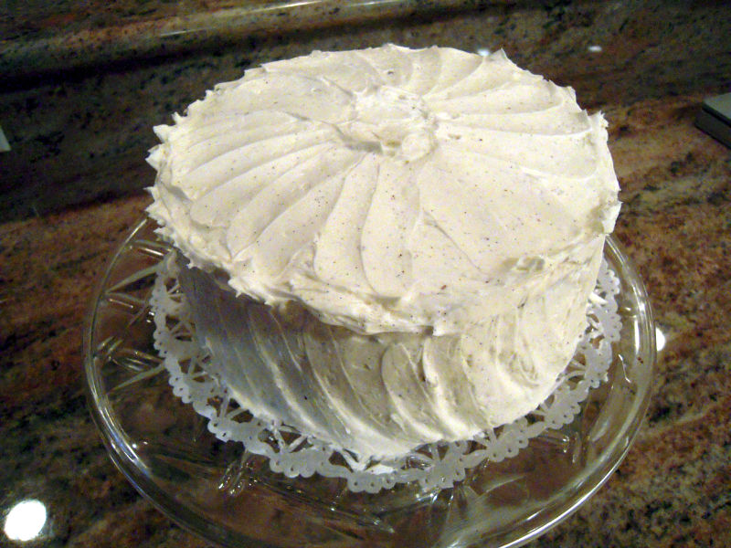 Devils food cake vanilla buttercream