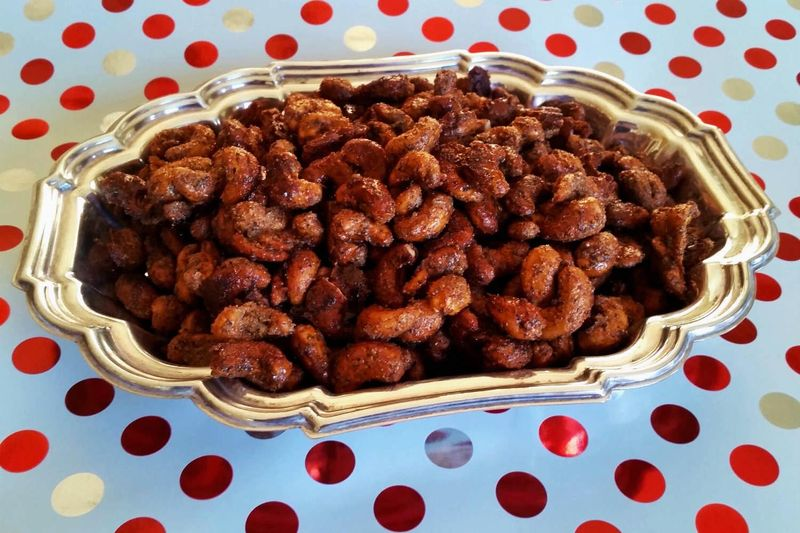 Chili lime christmas cashews