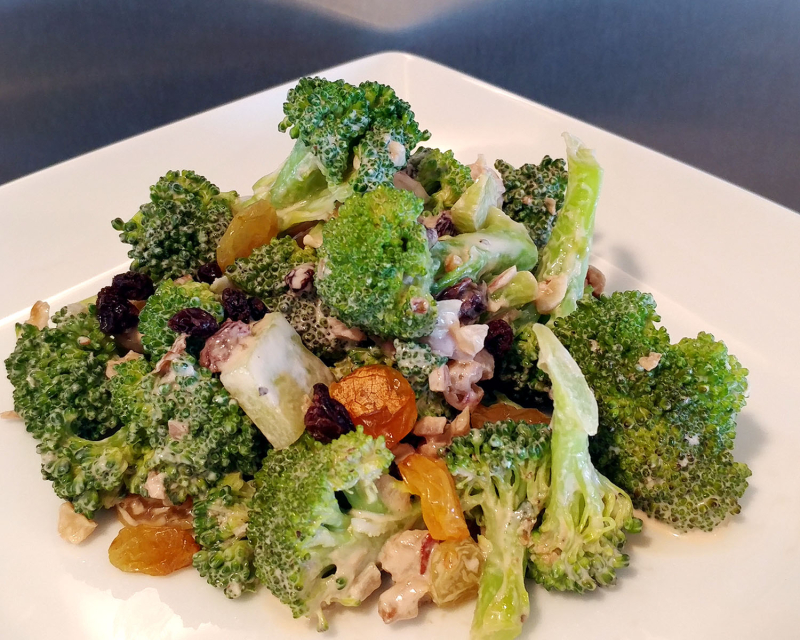 Broccoli Salad Raisins Toasted Nuts