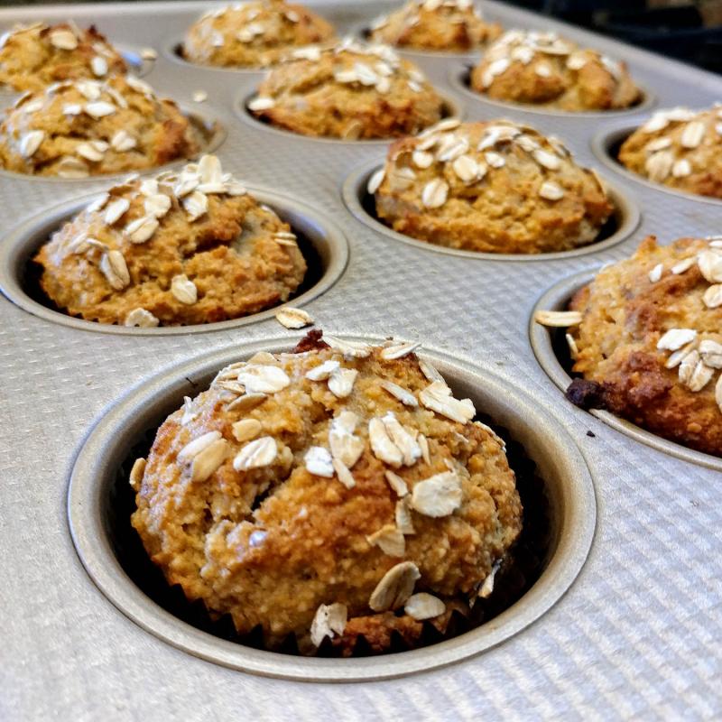 Gluten Free Banana Almond Flour Muffins pan1