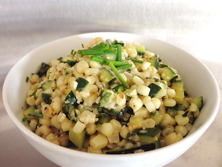 Sauteed Summer Corn Zucchini