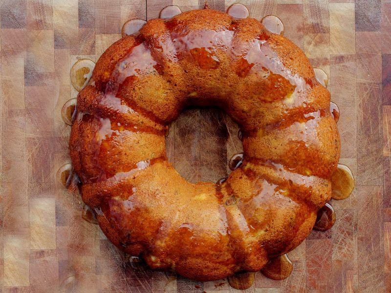 Honey glazed cake2