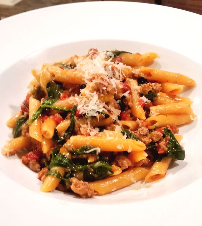 Penne pasta Turkey  Sausauge Sun Dried Tomatoes1