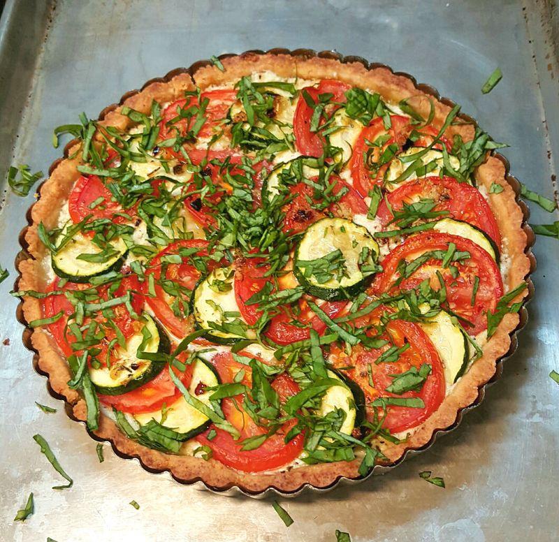 Tomato Zucchini Tart baked