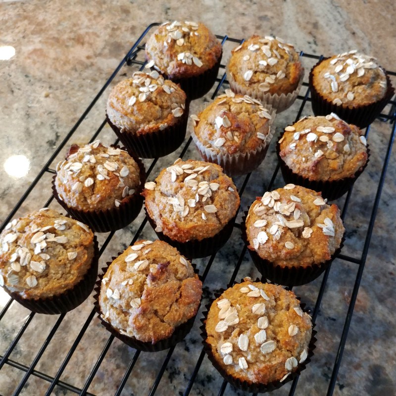 Gluten Free Banana Almond Flour Muffins 2