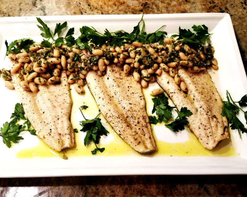 Idaho Rainbow Trout White Bean Salad
